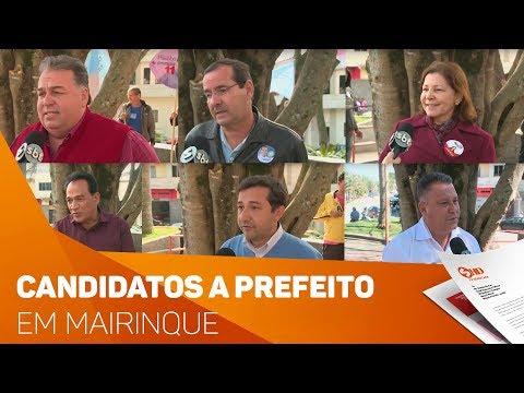 Candidatos das eleições em Mairinque - TV SOROCABA/SBT