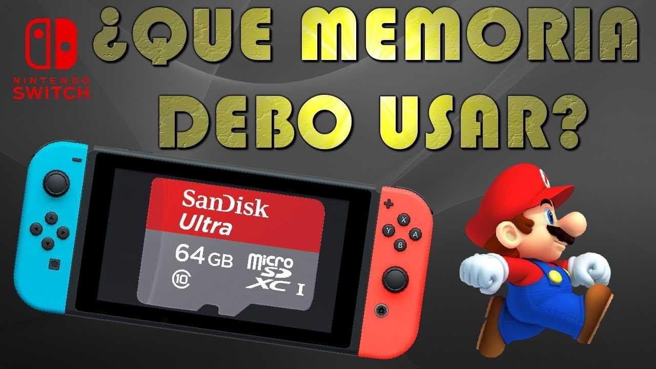 tarjetas de memoria compatibles con nintendo switch
