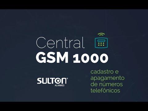 Central GSM 1000 Sulton | Cadastro e Apagamento de Números Telefônicos