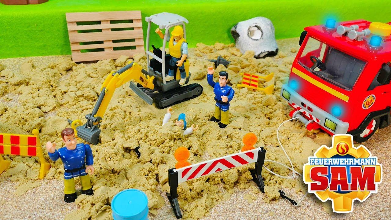 Feuerwehrmann Sam 🚧 Baustellen Alarm - Playlife Bagger Unfall auf der Baustelle
