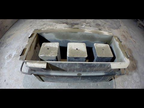 Строительные блоки своими руками.Форма для блоков.Тест природой
