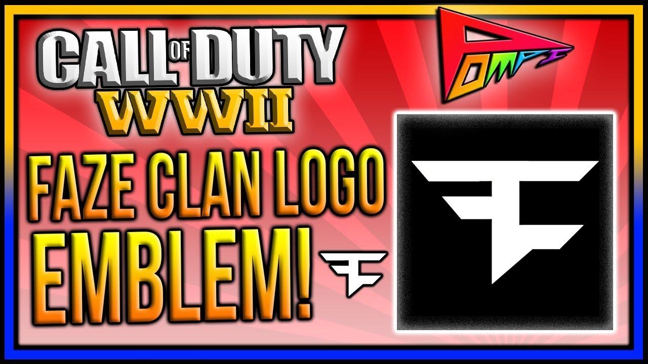 faze clan logo emblem tutorial cod ww2 emblem tutorial faze logo