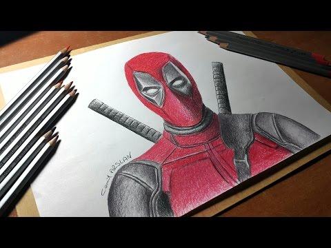 Drawing Deadpool Çizimi