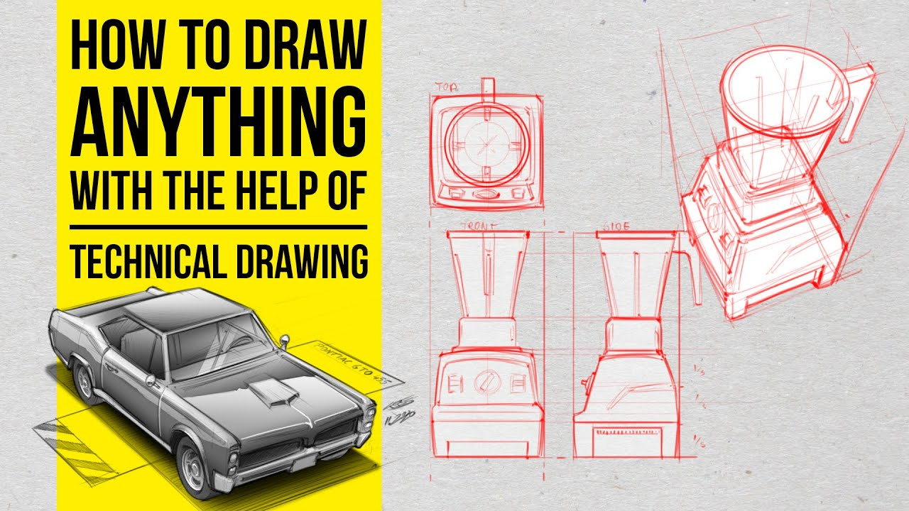 Download How to draw anything with the help of technical drawing