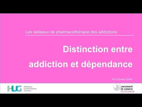 Distinction entre addiction et dépendance