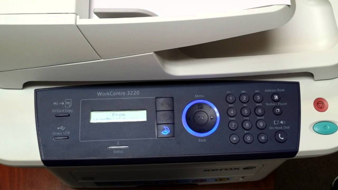 How to Scan to Email with your Xerox 3220