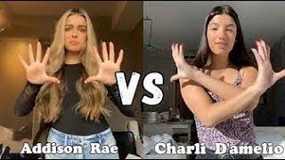 Charli damelio vs Addison Rae!! *TIKTOK BATTLE *WHO DID IT BETTER!!!