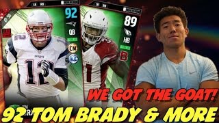 we get the goat tom brady razor close game madden ultimate team 17
