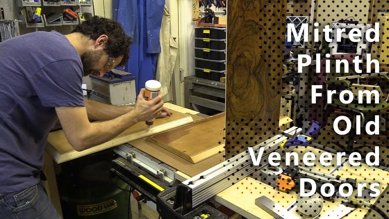 mitred plinth from old veneered doors youtube rh youtube com