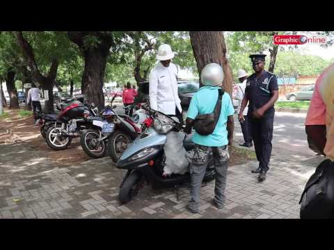 Police arrest traffic offenders in Accra