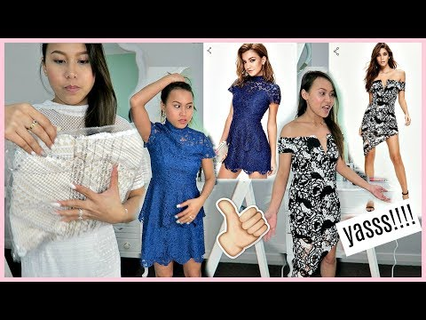 I ORDERED DRESSES FROM MISSGUIDED (PETITE AU4, US0) �� | rhazevlogs