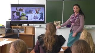 Видео фрагмент урока технологии