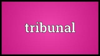 Tribunal Meaning