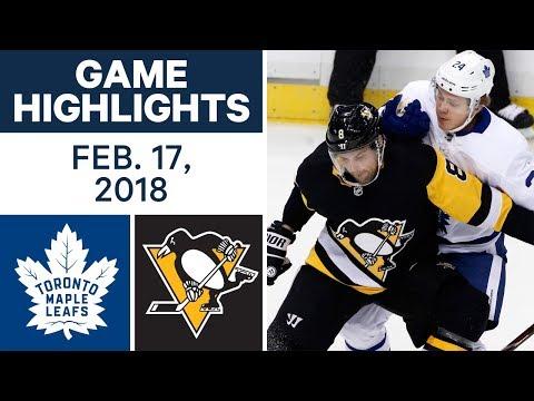 NHL Game Highlights | Maple Leafs vs. Penguins - Feb. 17, 2018
