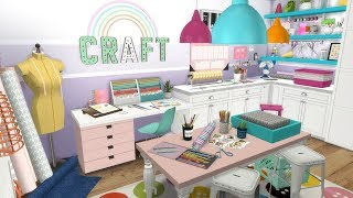 THE SIMS 4: SPEED BUILD // CRAFT ROOM + CC LINKS