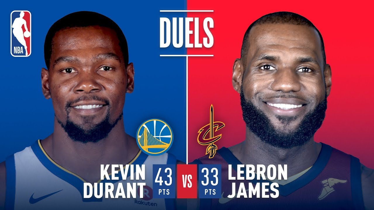 92ac5ef2a03 Kevin Durant   LeBron James Battle in Game 3