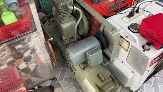 Hàng bãi Nhật, máy bơm hơi Hitachi bebicon 2hp đầu khô 5,8 triệu 0932666653, ngày 26/07/2021