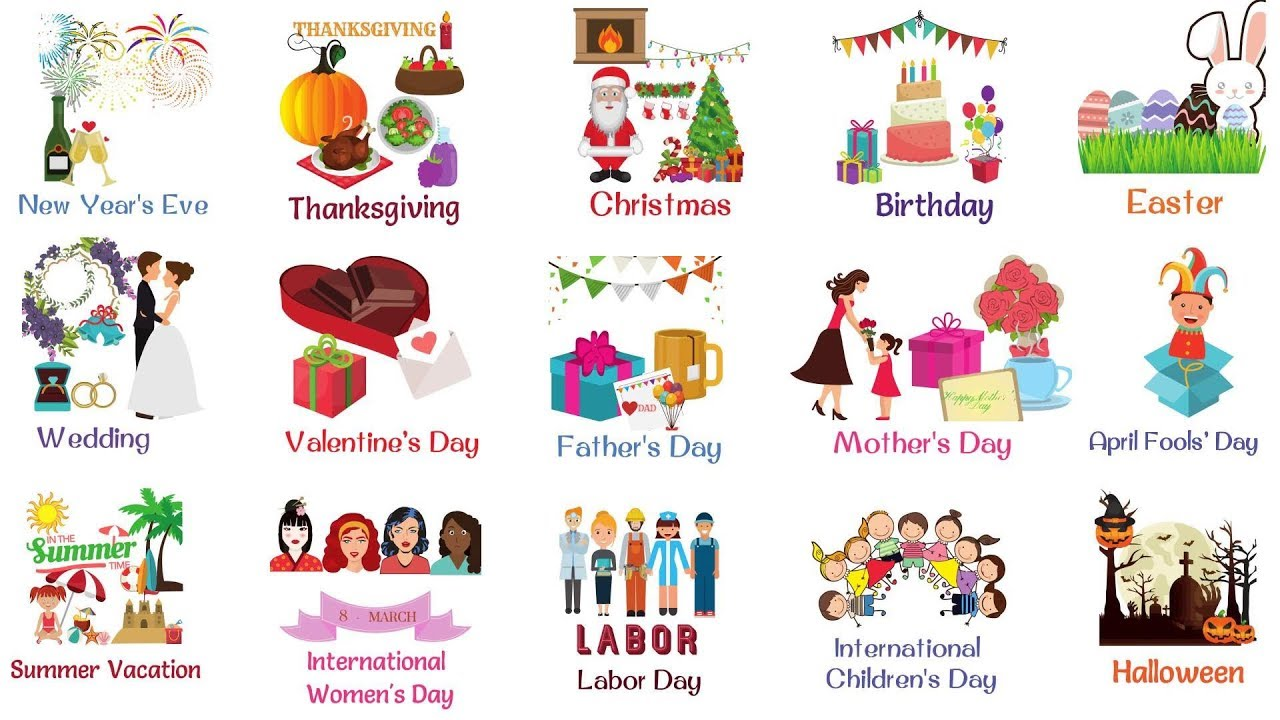 Holidays And Special Events List Of Holidays Youtube
