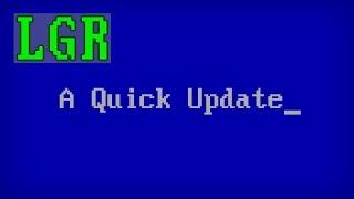 lgr a quick update