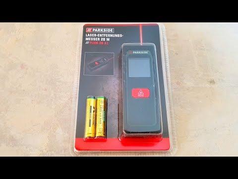 Laser Entfernungsmesser Parkside : Parkside plem 20 a1 laser entfernungsmesser m messgerät video