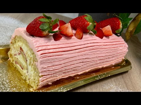 bÛche-À-la-fraise-🍓-recette-gourmande-facile-et-rapide-!