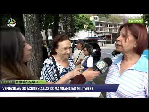 Venezuela - Ciudadanos inician concentración en comandancia de la GN en Caracas - VPItv