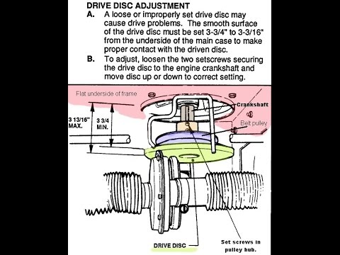 Snapper Rear Engine Rider Drive Disc Adjustment - DIY OneForAll