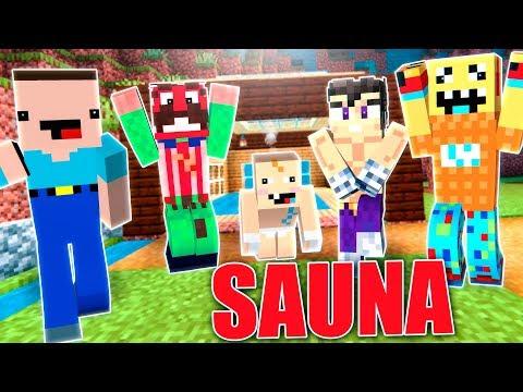 Mejoramos la sauna del alcalde - Minecraft con noobs