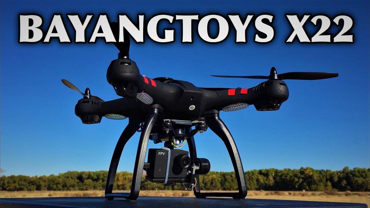 BAYANGTOYS X22 1080P WiFi FPV RC Drone 3-axis Gimbal - YouTube