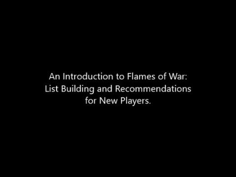 Introduction to Flames of War List Building for New Players (The Basics)
