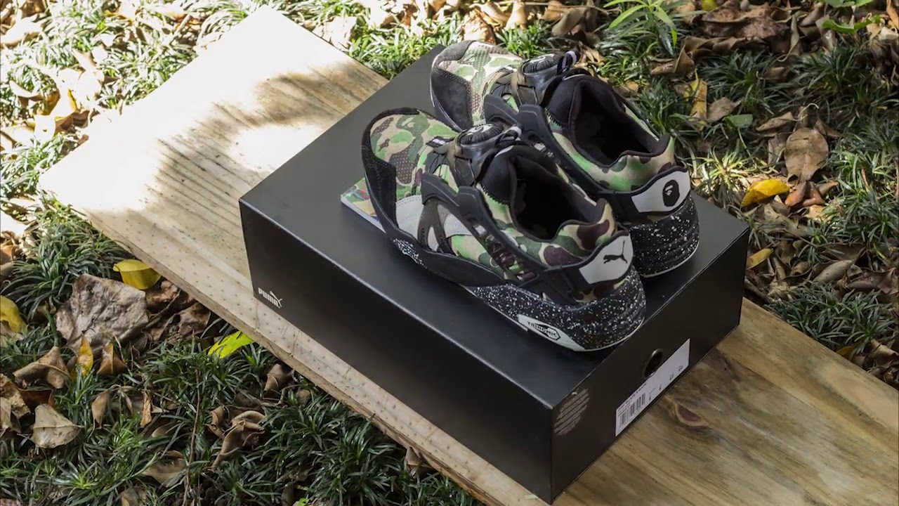 56171ae176f5e SneakersBR Unboxing: PUMA Trinomic Disc Blaze X BAPE - YouTube