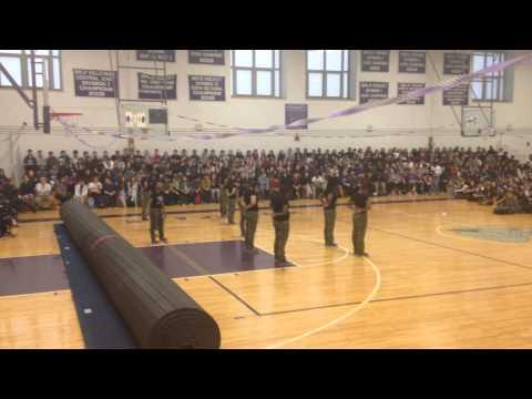Boston Latin School Step Squad Rally 2014