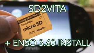 How to Install microSD SD2VITA and Enso on PS VITA Henkaku