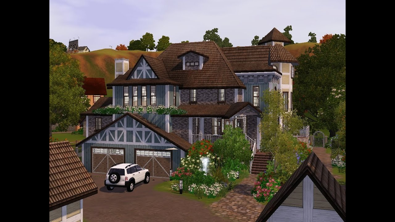 The sims 3 building a victorian ranch youtube for Build a ranch home