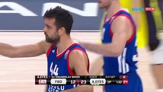 2018 Erkekler Türkiye Kupası Çeyrek Final: Fenerbahçe Doğuş - Anadolu Efes