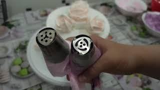 Я ВЛЮБИЛАСЬ в эту КРАСОТУ Как украсить торт белковым заварным кремом
