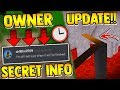 OWNER TOLD ME ABOUT SECRET *NEW* UPDATE!! | Build a boat for Treasure ROBLOX