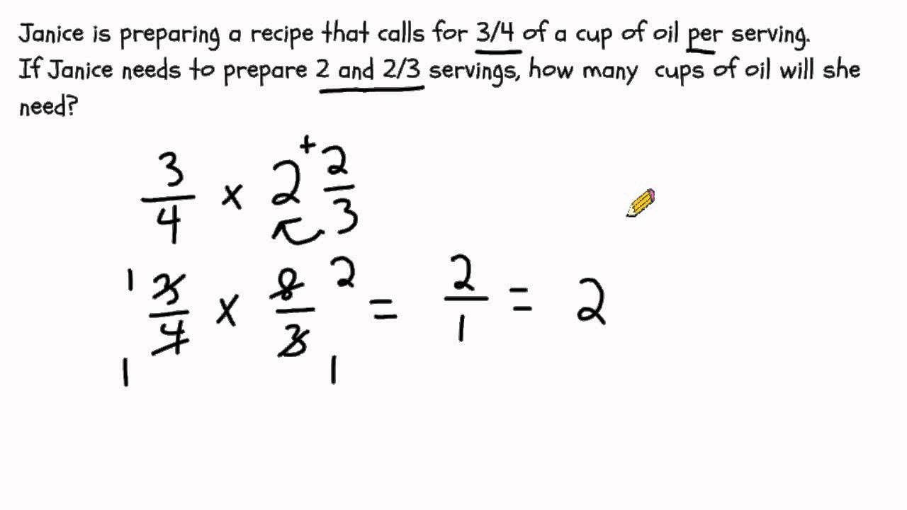worksheet Multipling Fractions multiplying fractions solving word problems youtube problems