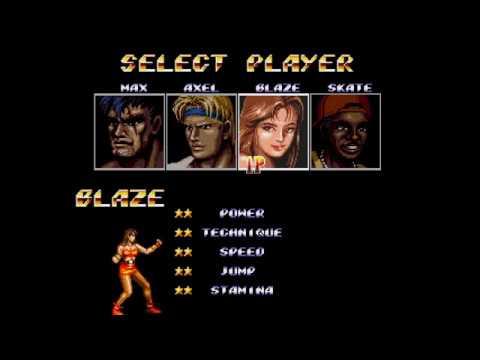 Streets of Rage 2 - Blaze on Mania. 1 life start, 3 lives end