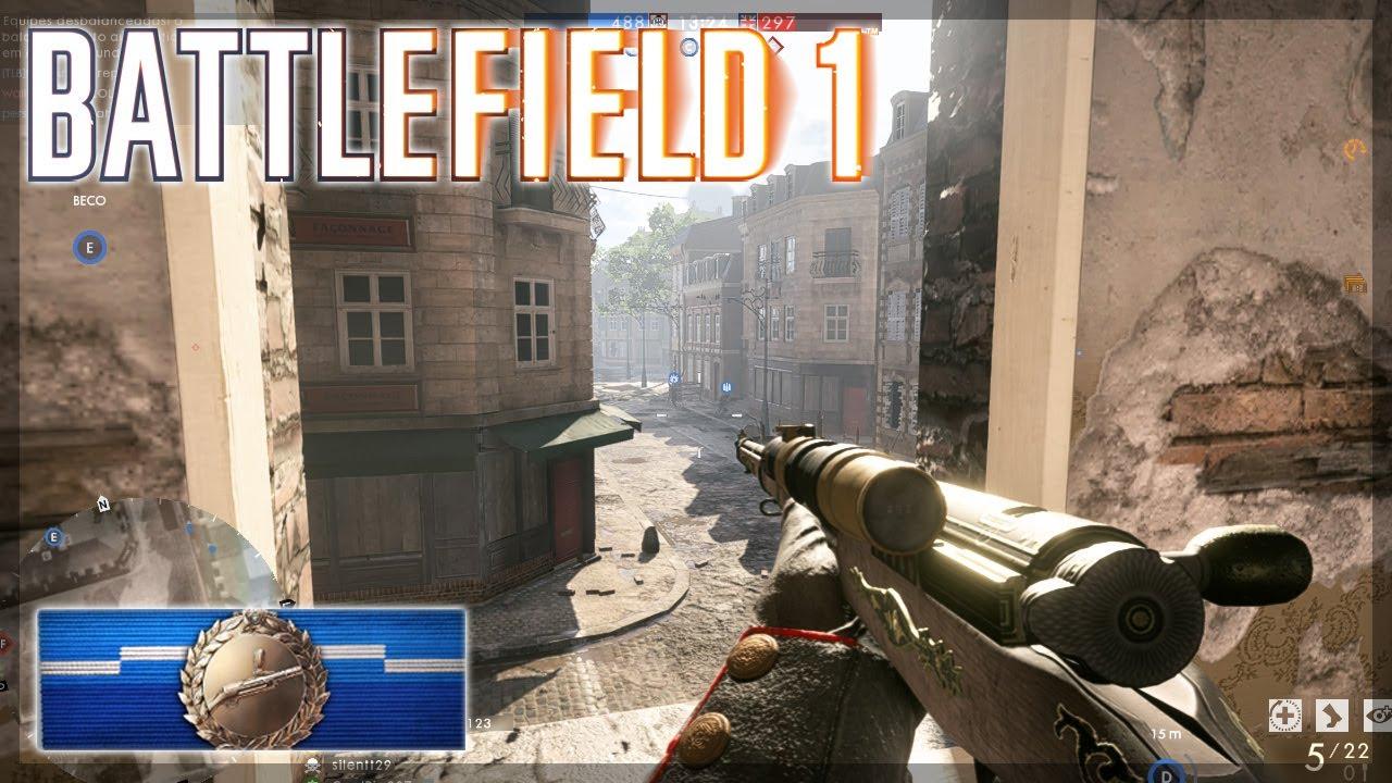 Battlefield 1 Sniper Gameplay Multiplayer (immersive Asmr)