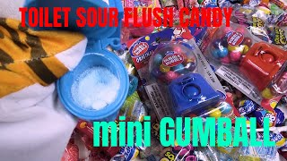 Sour flush toilet candy and mini gumball machine - lot of fun and surprises