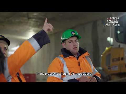 Liebherr – Grand Paris – 25 metres below ground