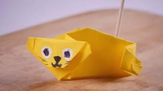 Como Hacer Origami de Leon - HomeArtTv por Juan Gonzalo Angel