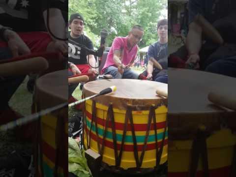 Coldwater Ojibwe singers @ Curve Lake pw 2016