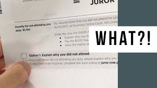 $1100 Penalty For Not Attending Jury Duty