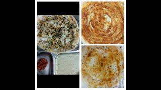 Onion Uthappam , Podi Dosa , Chutney Dosa // 3 Types of Dosa // Variety Dosa // Dosa Recipe