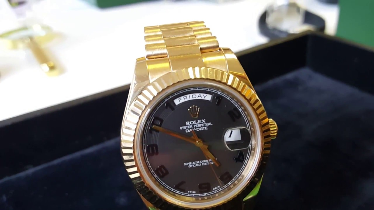 9b3c5803f15b7 Rolex Day Date 2 41mm 18kt YG 218238 V Serial Black Dial LIKE NEW!!!BOX  PAPERS!