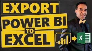 How to Export Power BI To Excel