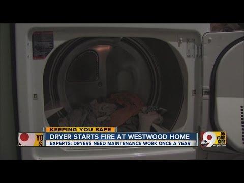 Dryer starts fire at Westwood home