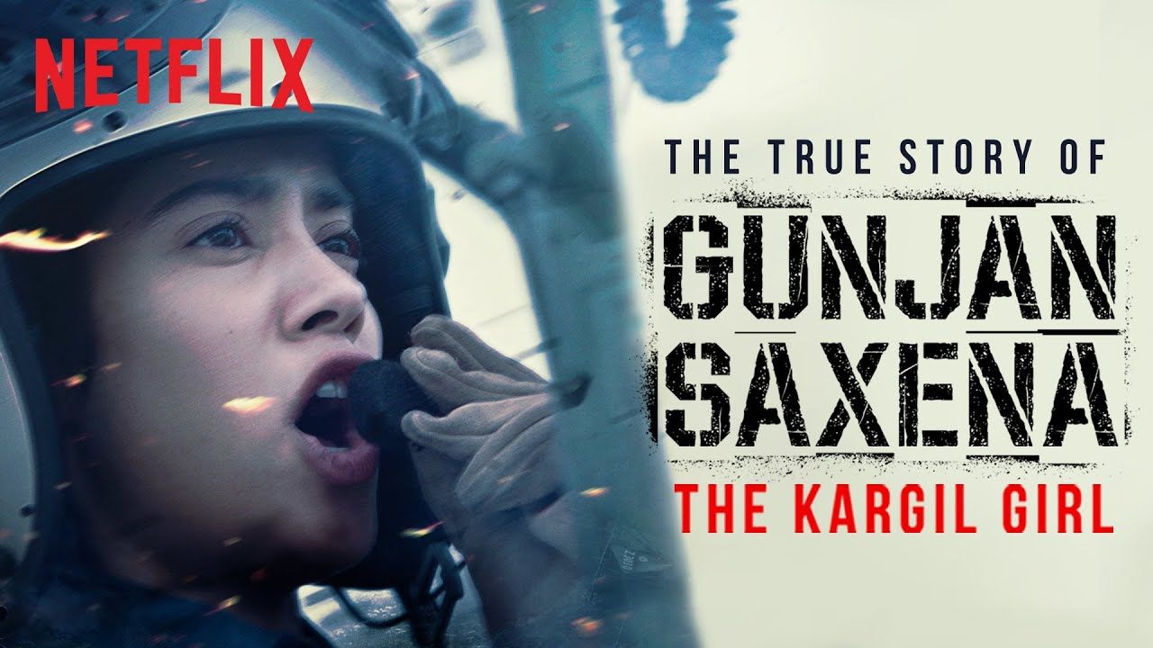 Introducing Gunjan Saxena The Kargil Girl Janhvi Kapoor A Netflix Original Film Netflix India Youtube